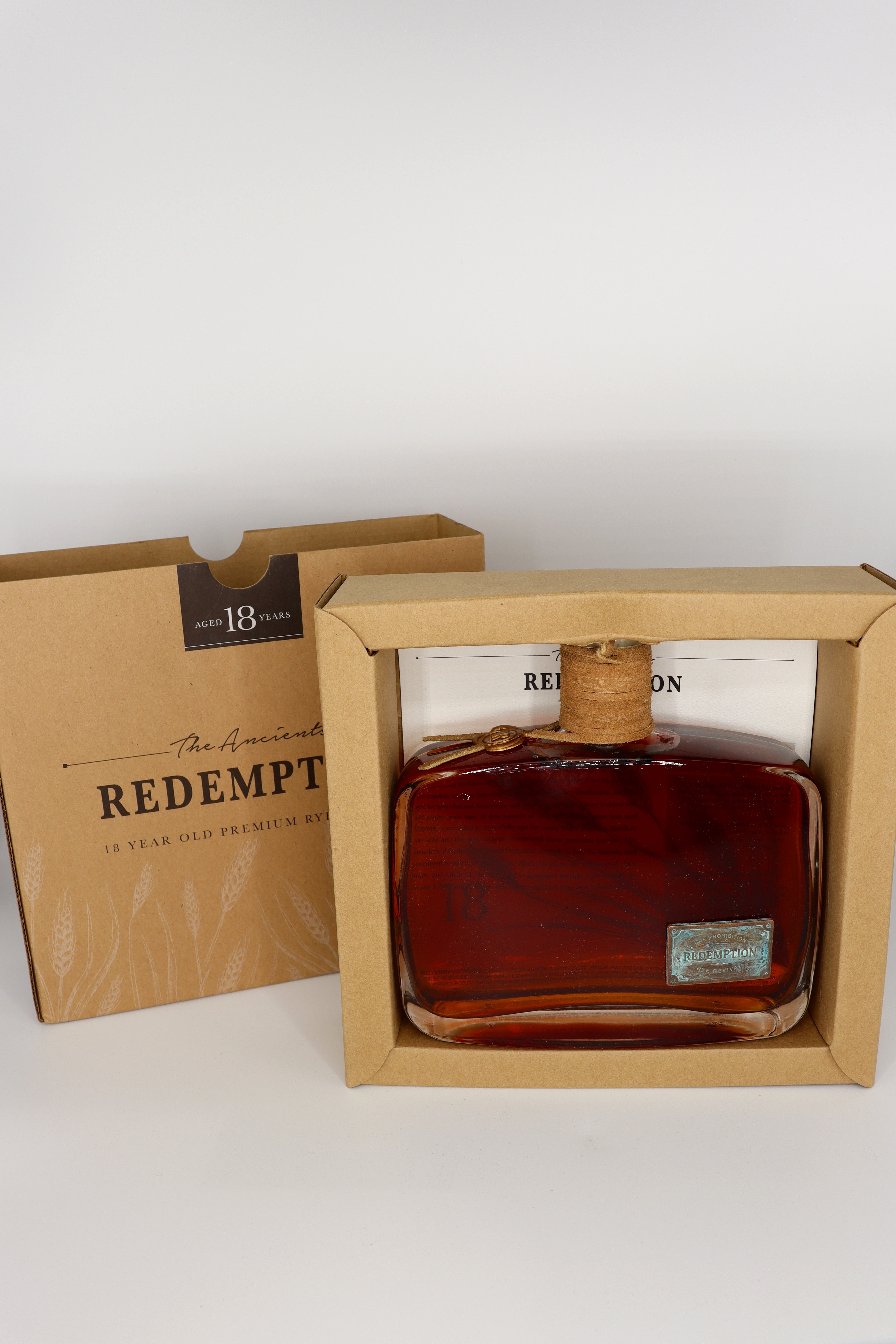 Redemption The Ancients 18 year old Straight RYE Whiskey Barrel Proof