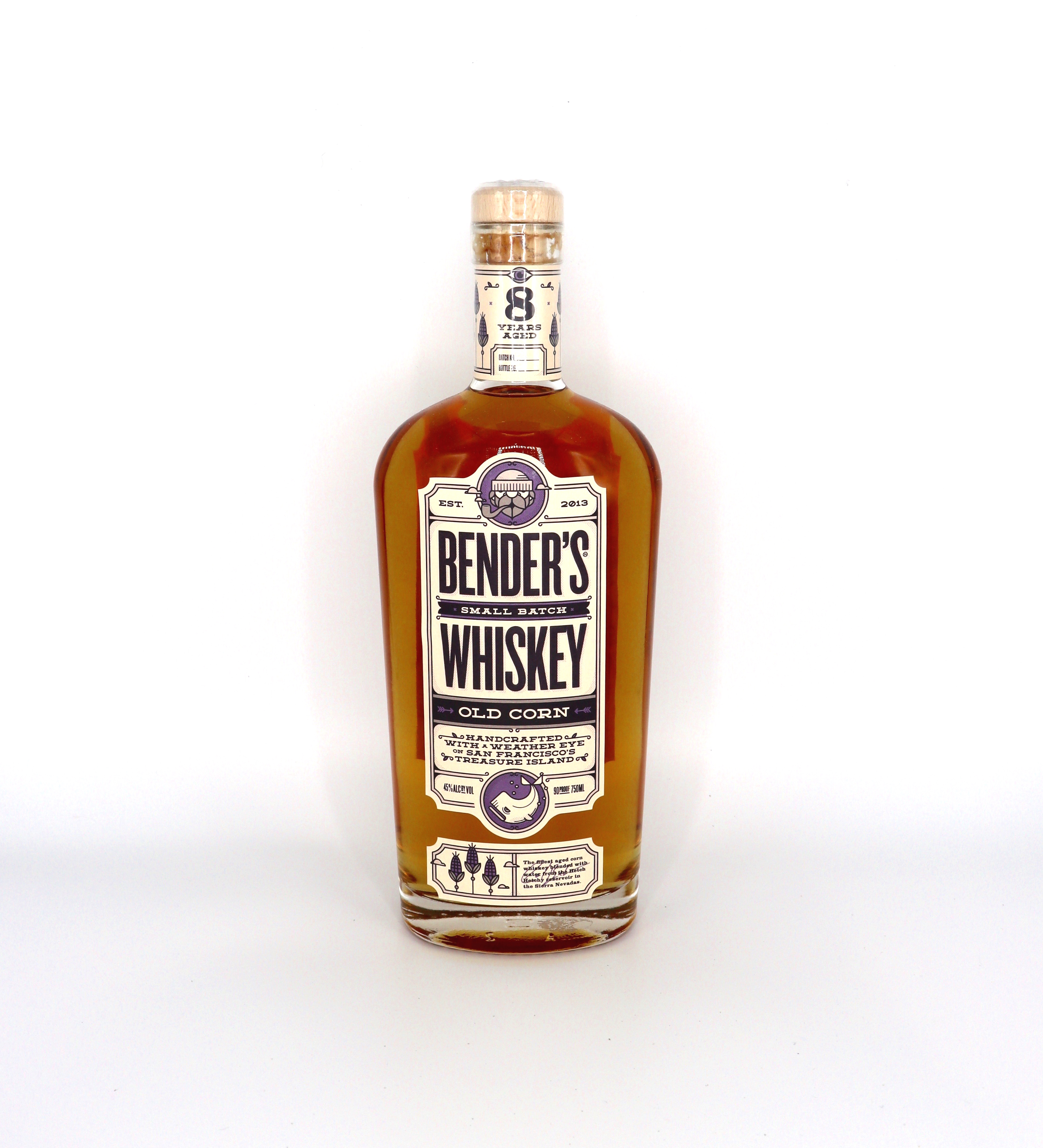 Bender's 8 year Small Batch Old Corn Whiskey 90 proof