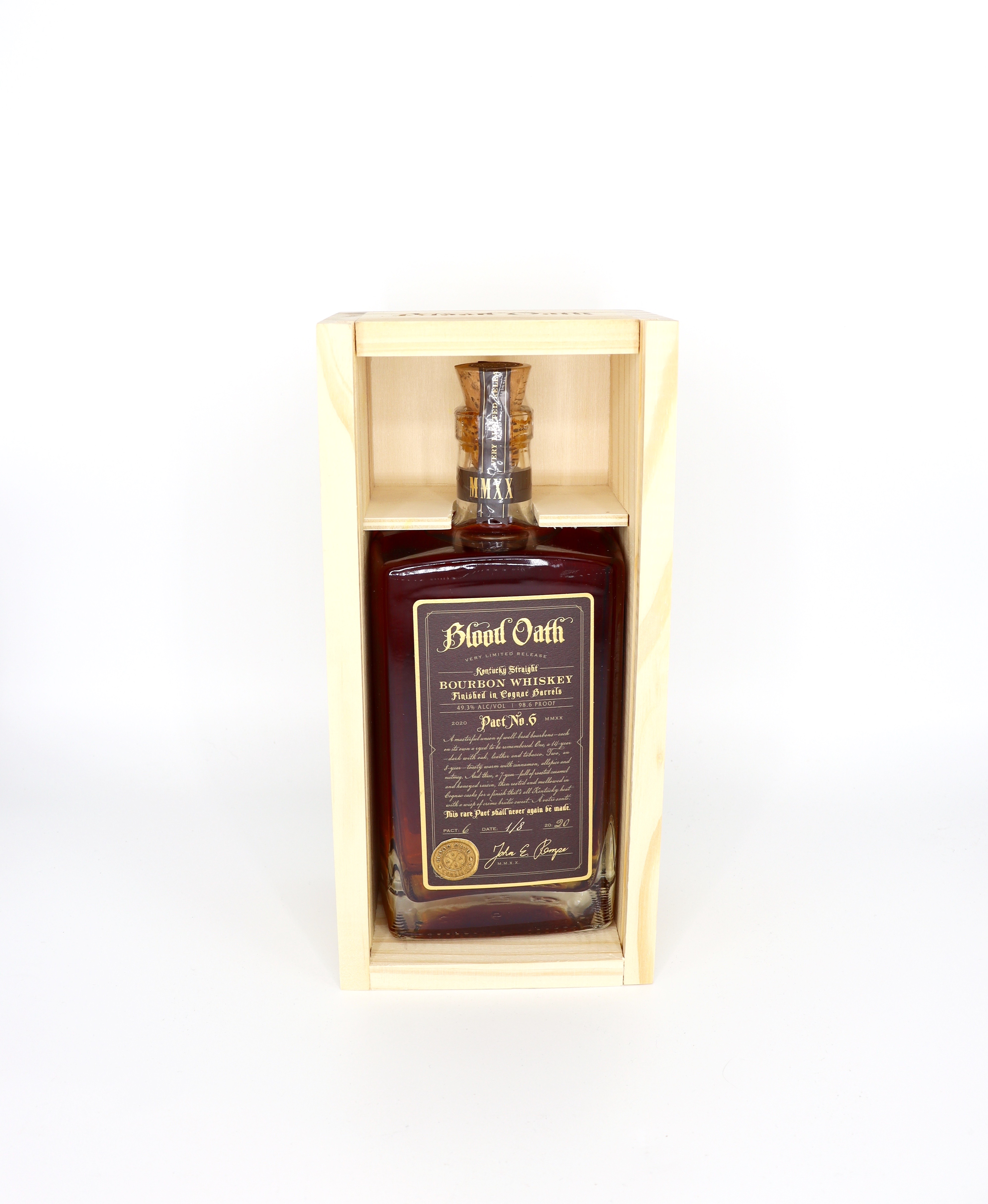 Blood Oath Pact No 6 Bourbon Finished in Cognac Casks 98.6 proof