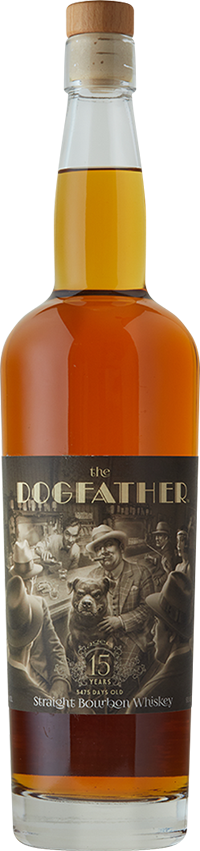 Lone Whisker The DogFather 15 year Straight Bourbon