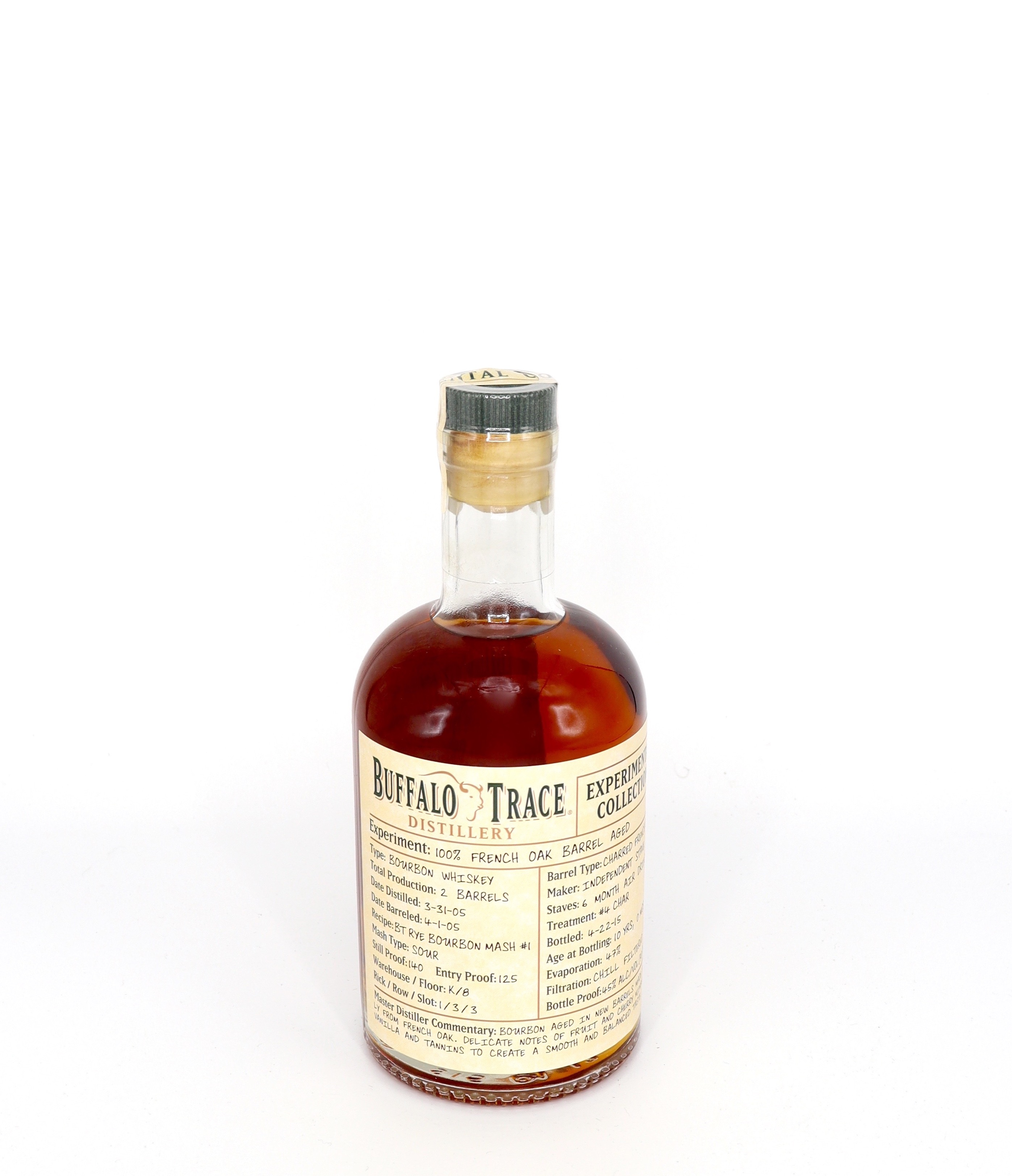 Buffalo Trace Experimental Collection 100 percent French Oak Aged