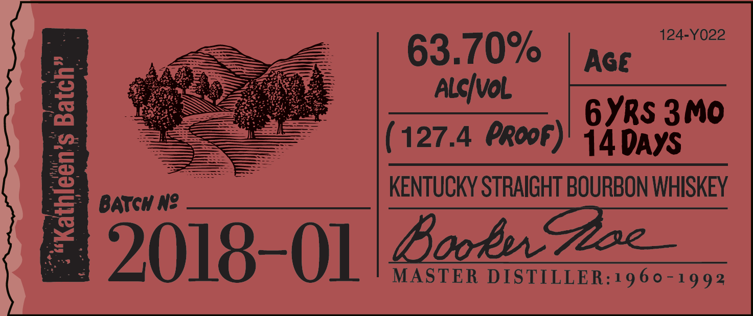 Booker's Kathleen's Batch Small Batch 2018-01