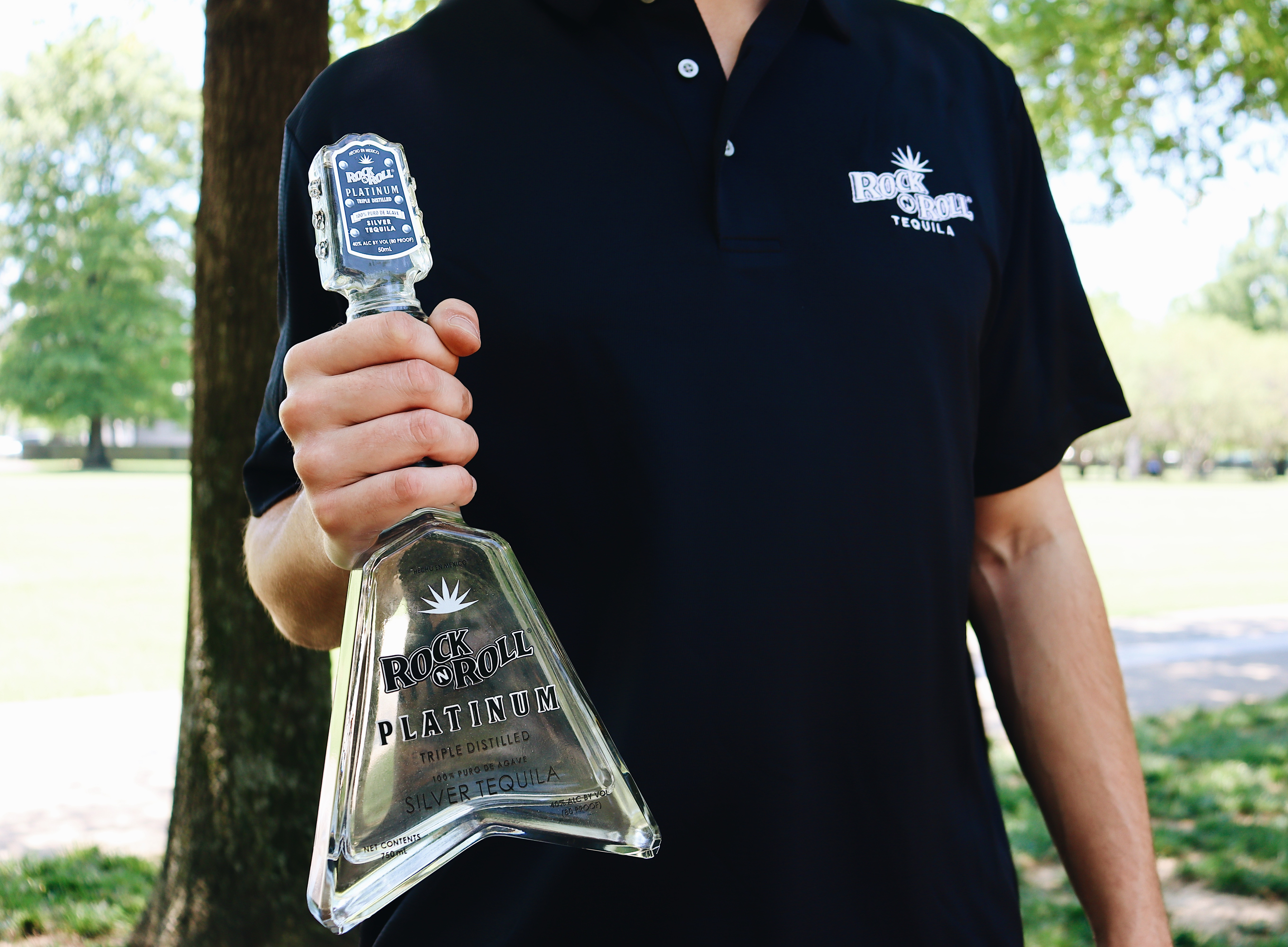 Rock N Roll Tequila Platinum with free T-shirt