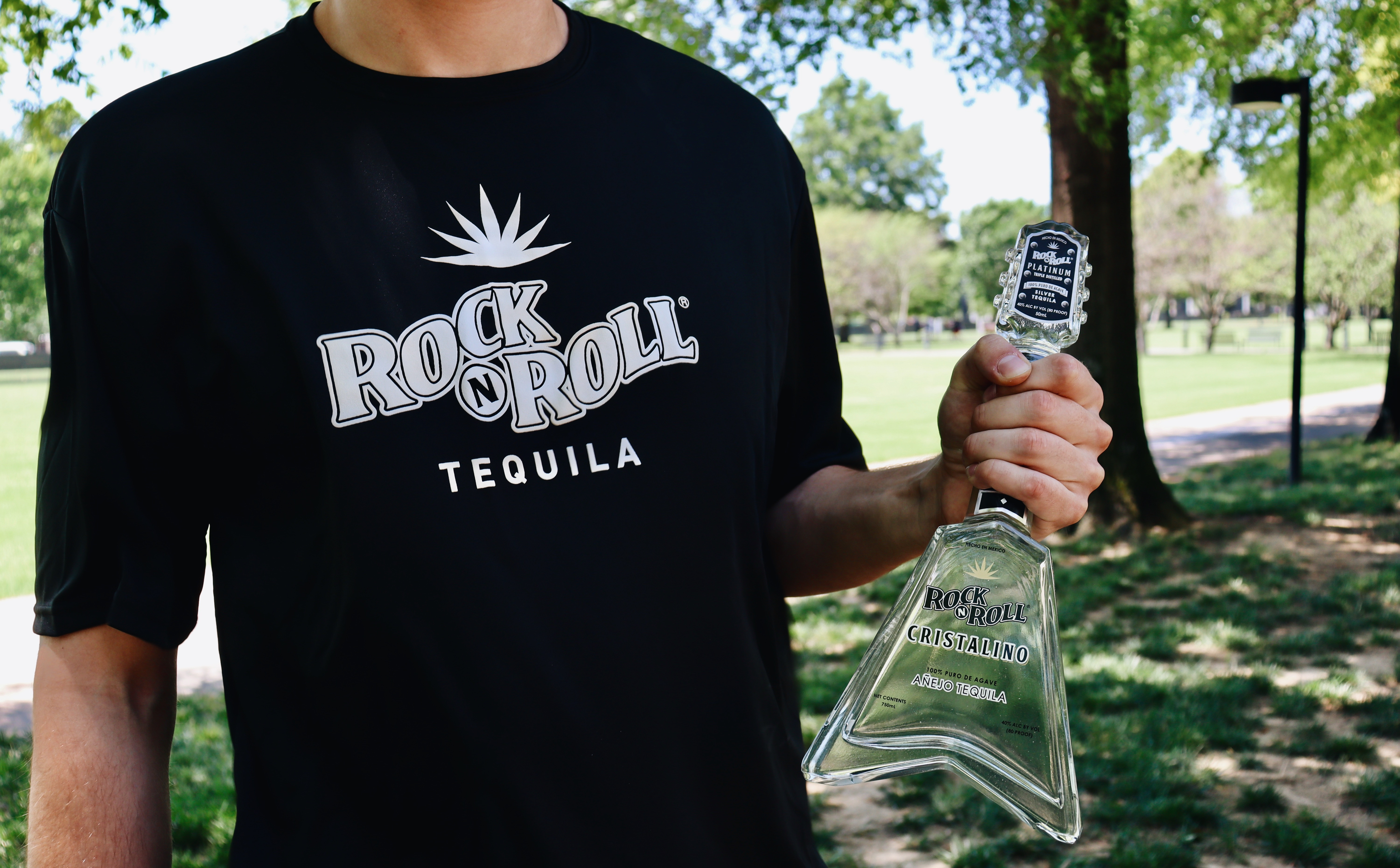 Rock N Roll Tequila Cristalino With Free T-shirt