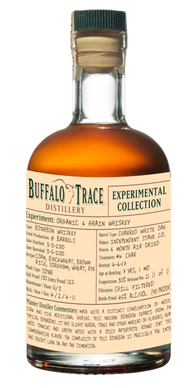 Buffalo Trace Distillery Experimental Collection Organic 6 Grain Bourbon Whiskey