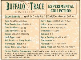 Buffalo Trace Experimental Collection 12 year wheated bourbon from floor #1