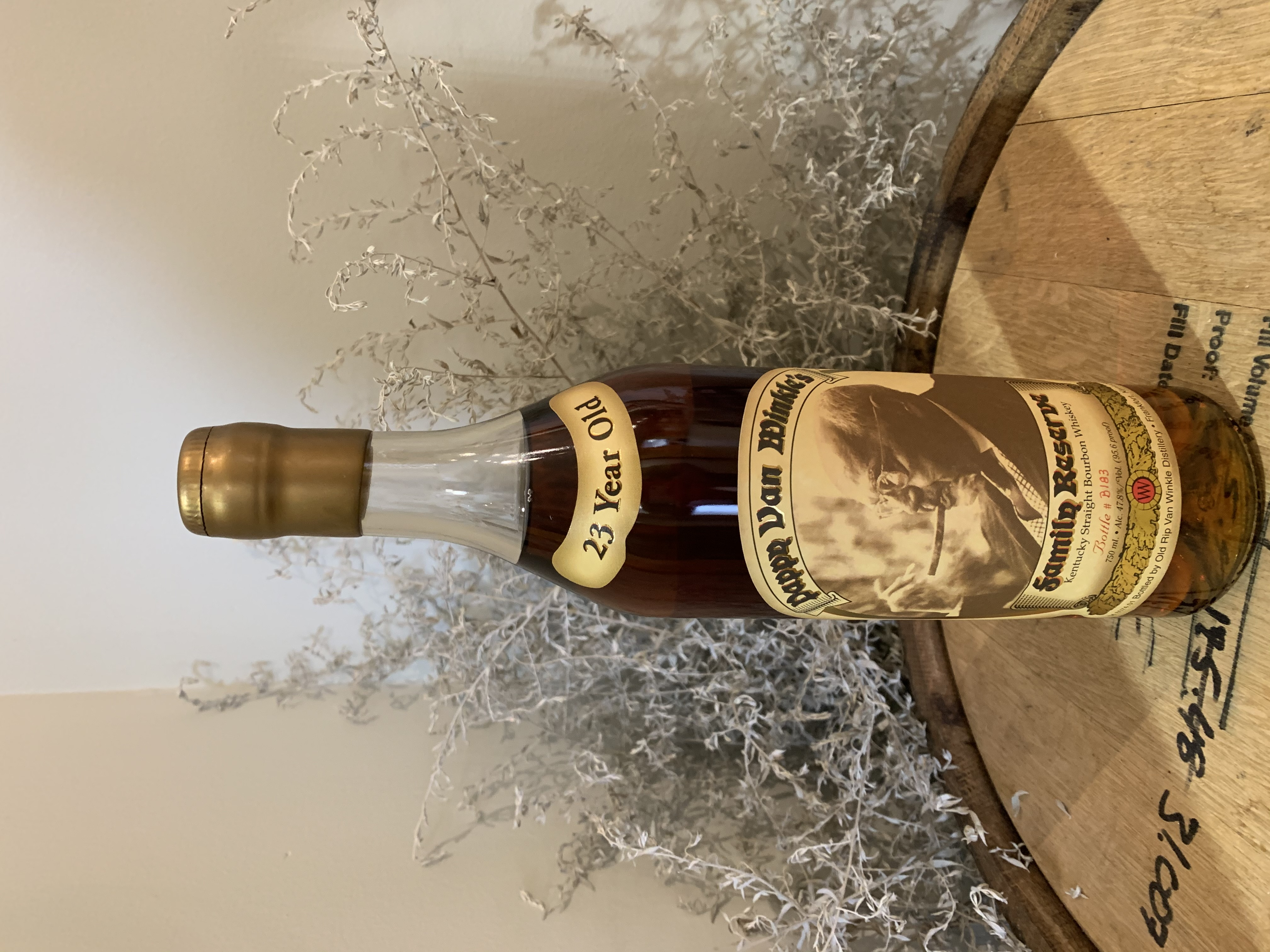 Pappy Van Winkle Family Reserve 23 Year Old Gold Wax Bottle B183 2005