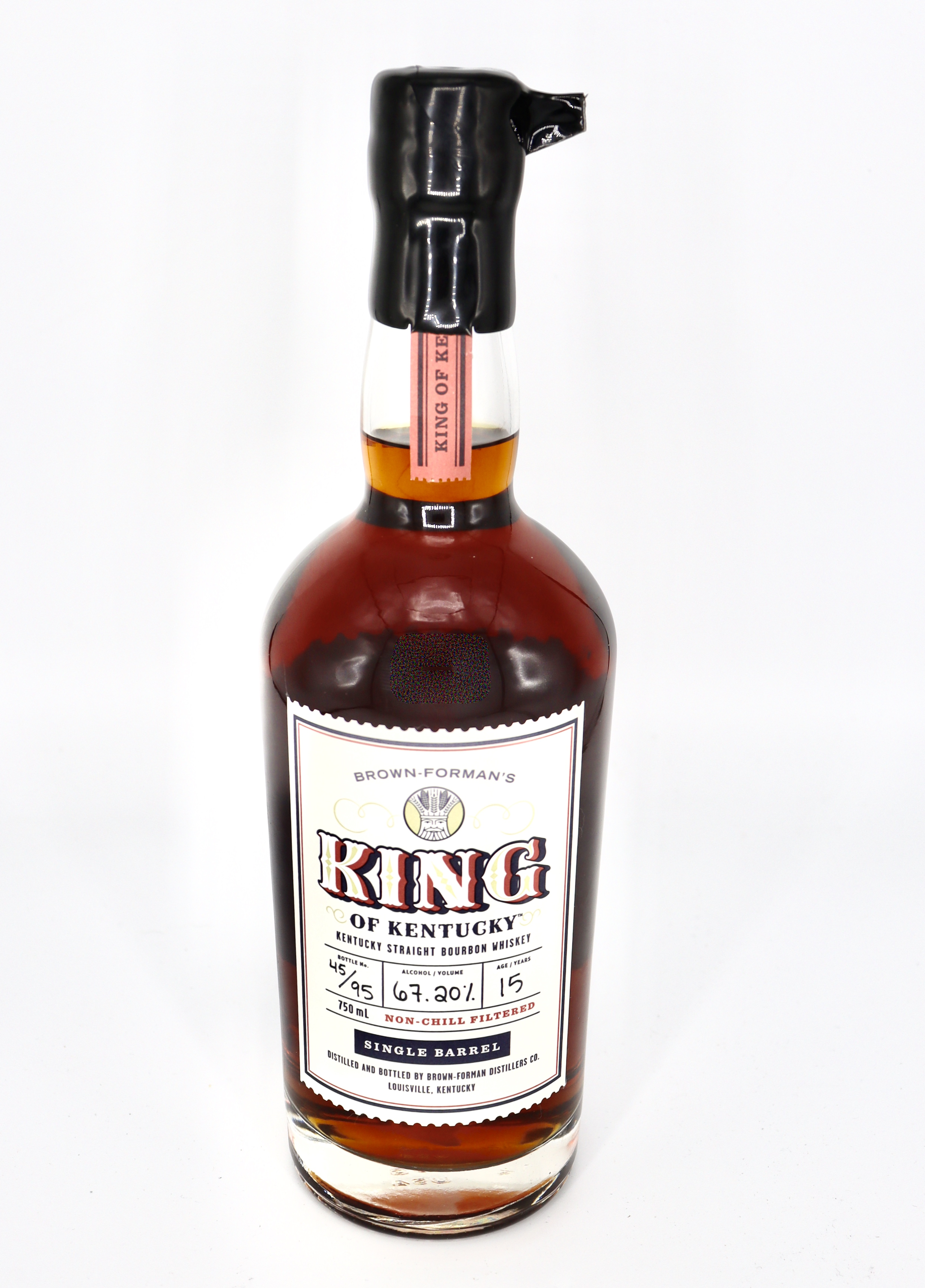 Brown Formans King of Kentucky Single Barrel 15 yr Kentucky Straight Bourbon 134.4 proof Barrel # 17