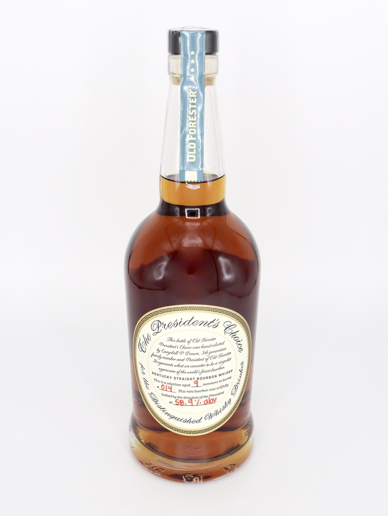 Old Forester Presidents Choice aged 10 summers in Barrel No 016 118 proof