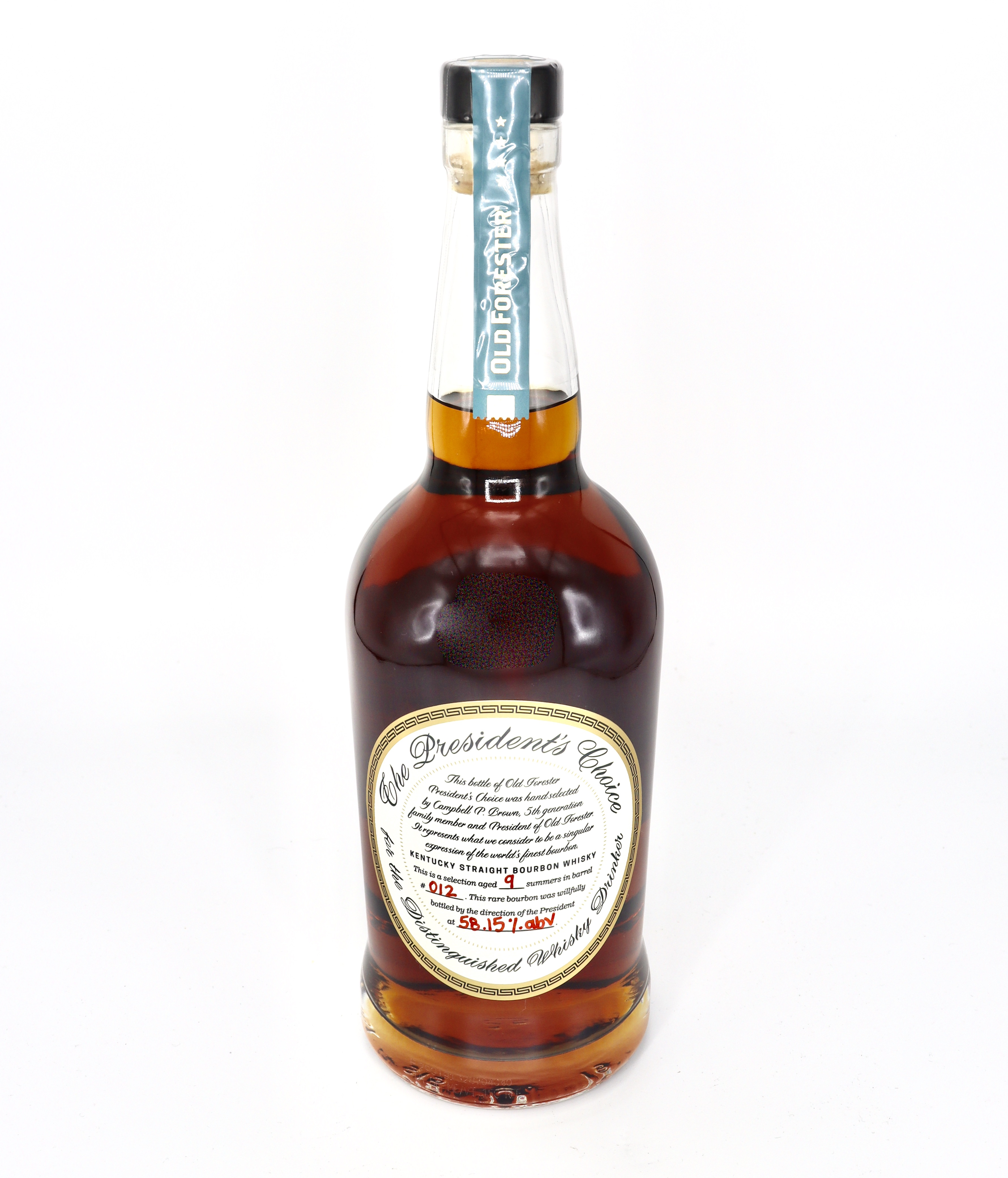 Old Forester Presidents Choice aged 9 summers in Barrel No 012 116.3 proof