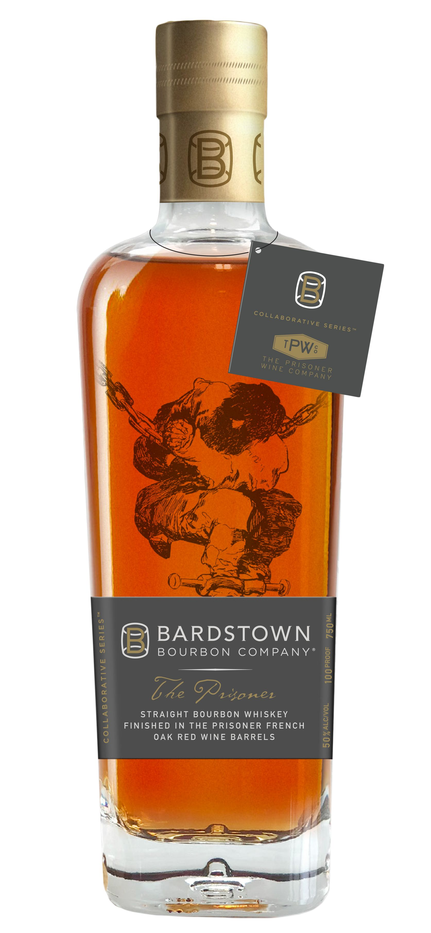 Bardstown The Prisoner Wine Finished Straight Bourbon Whiskey 100 proof