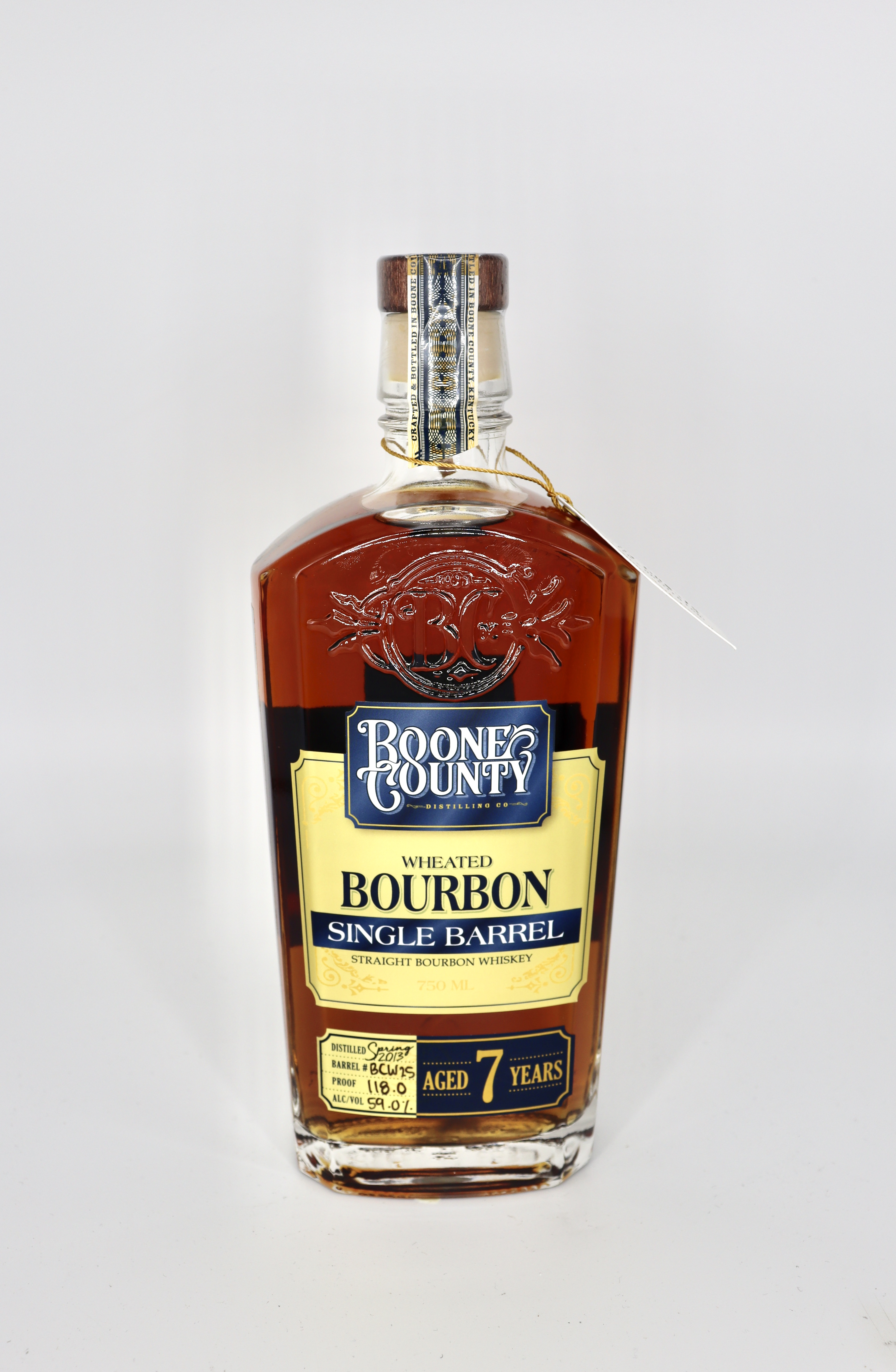 Boone County 7 Year old Single Barrel Wheated Bourbon 121.4 proof