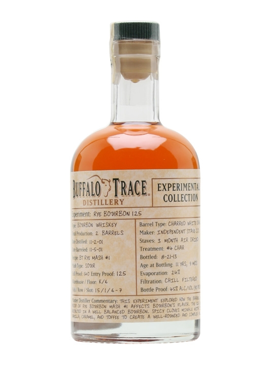 Buffalo Trace Distillery Experimental Collection 125 Rye Bourbon Whiskey