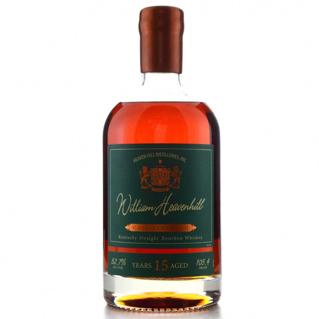 William Heavenhill Cask Strength 15 year old Kentucky Straight Bourbon 105.4 proof
