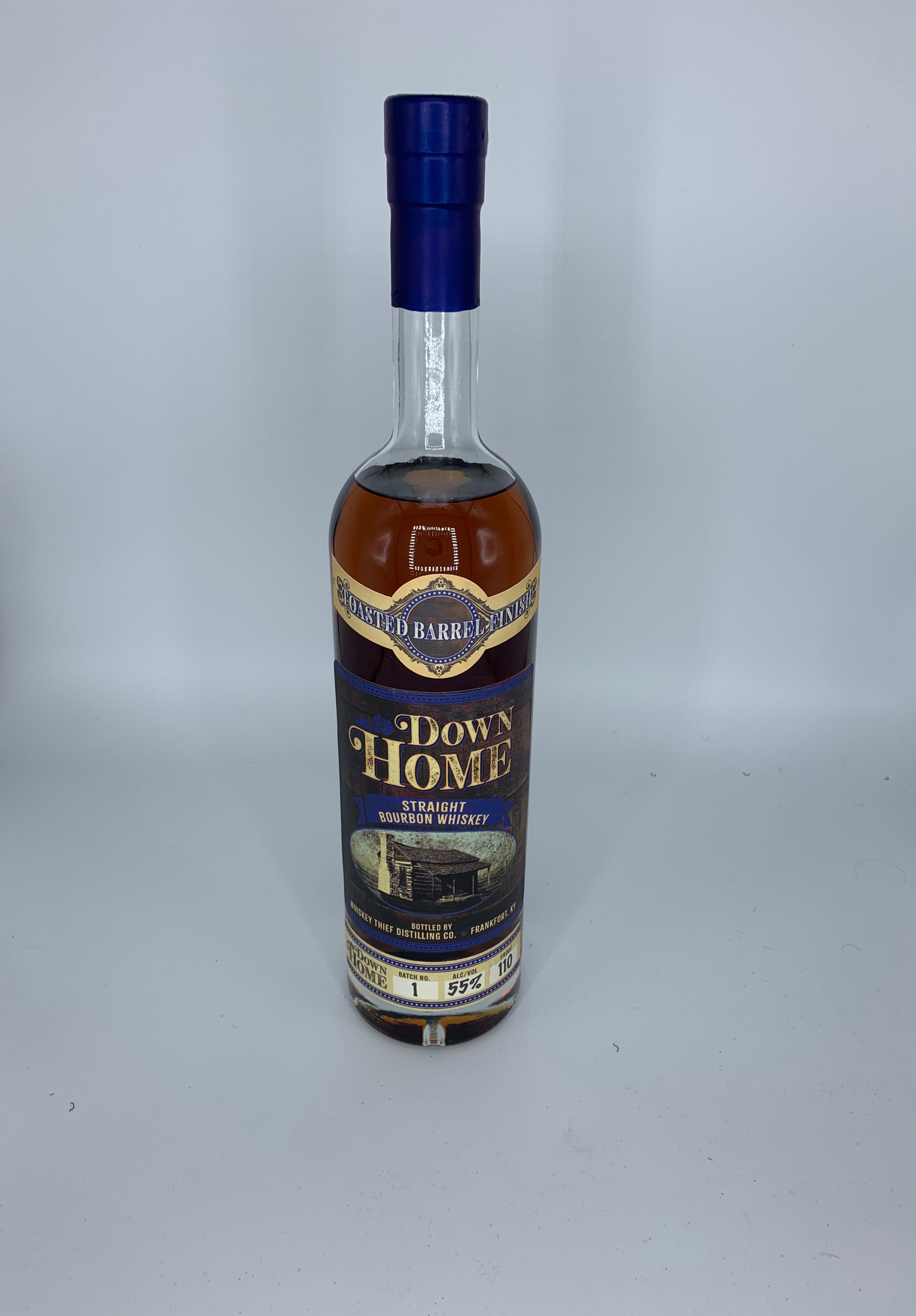 Down Home Bourbon Toasted Barrel Finish 110 proof Batch #1