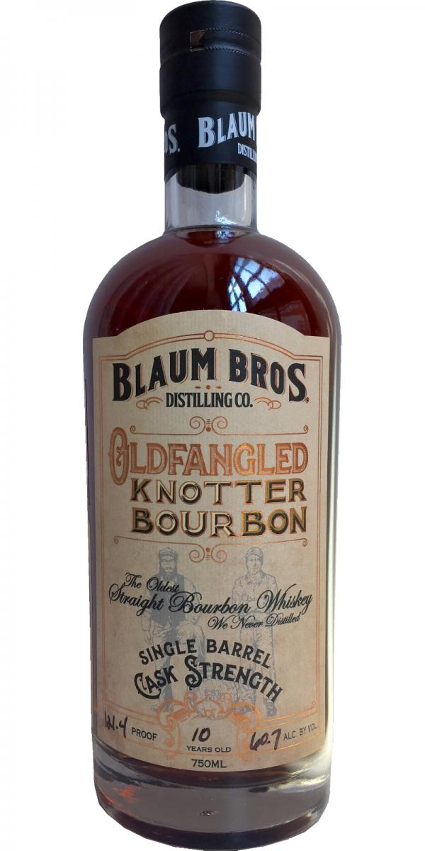 Blaum Bros 12 Year OLDFANGLED Knotter Bourbon Cask Strenght 105.7 Proof