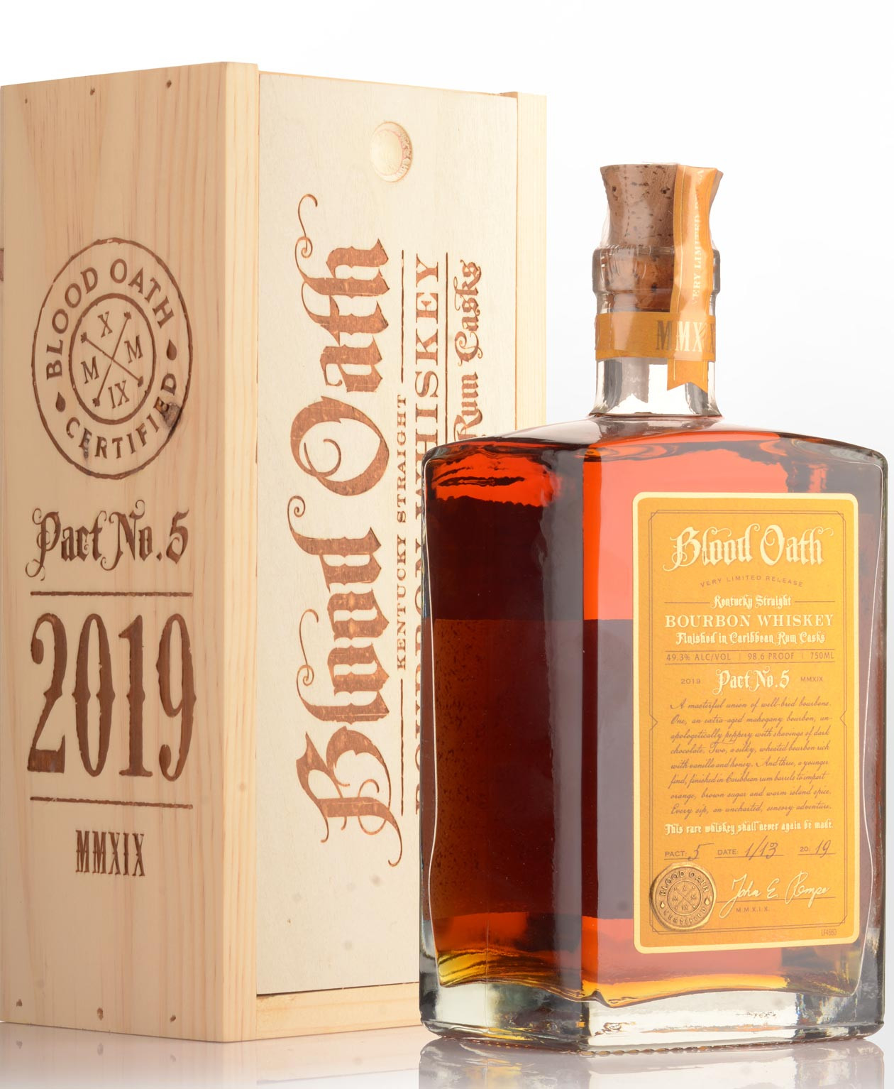 Blood Oath Pact No 5 Bourbon Finished in Caribbean Rum Casks