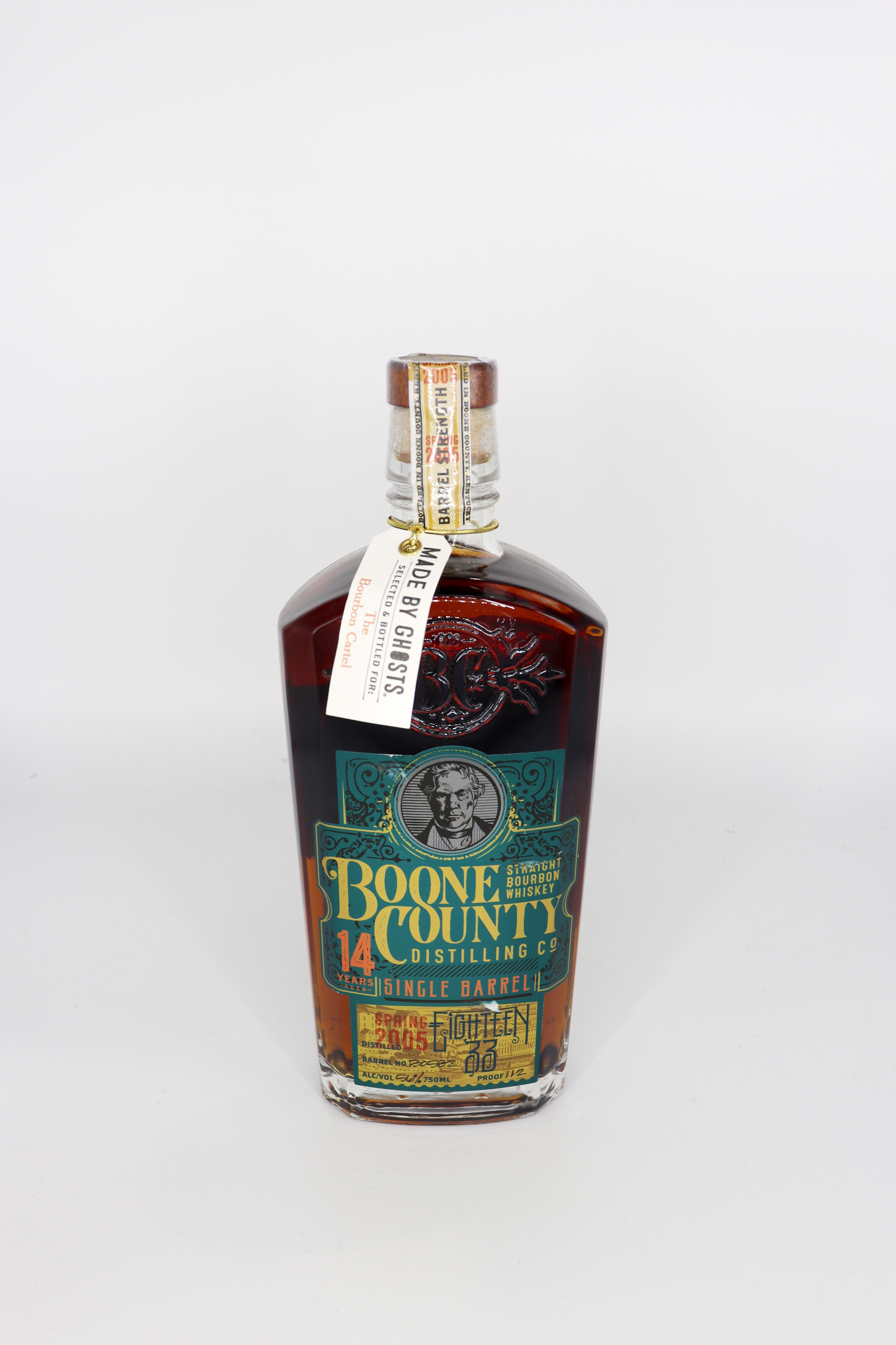 Boone County 14 Year old Single Barrel Barrel strenght Bourbon Made by Ghosts Gordon's Bottling