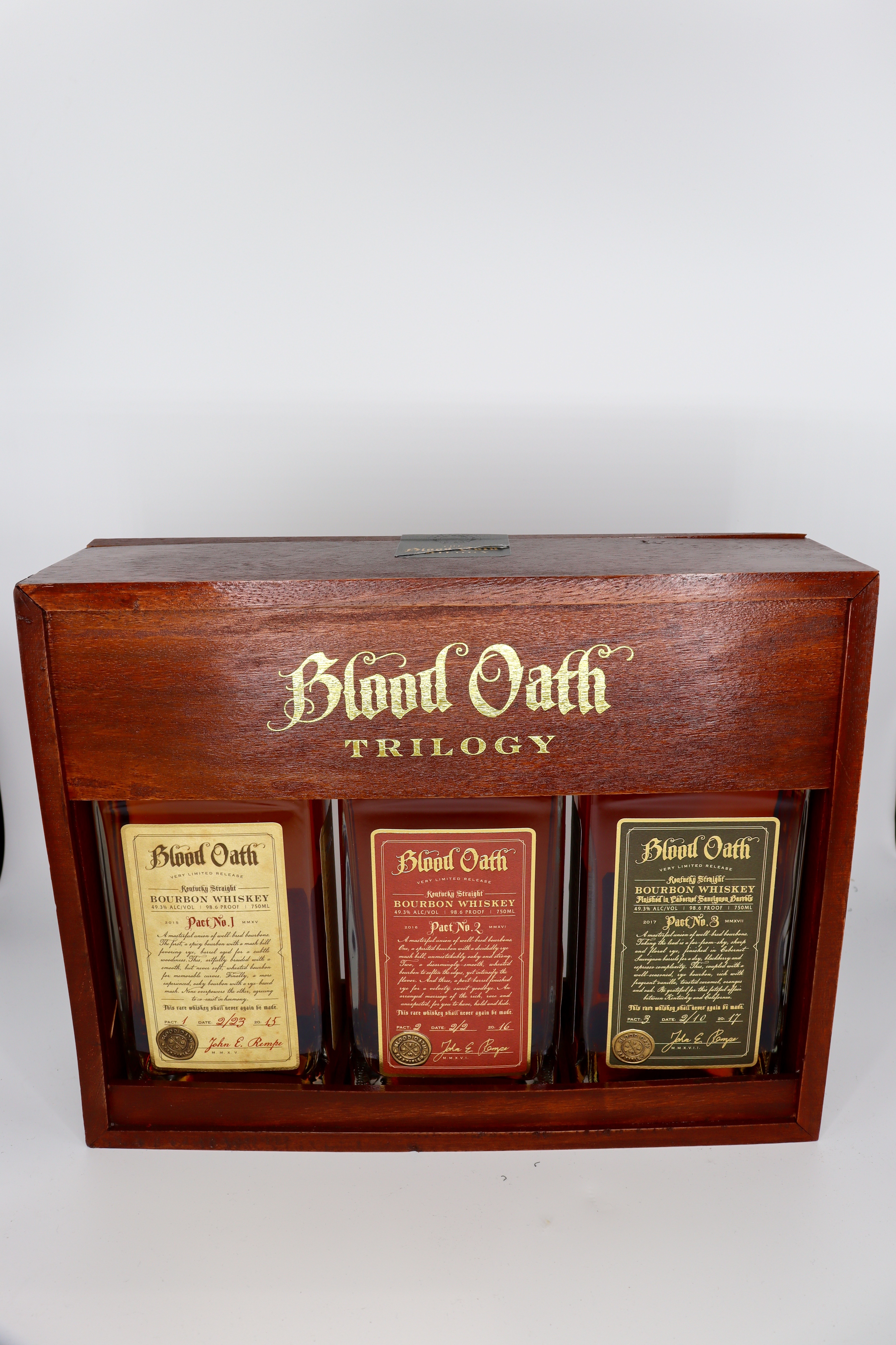Blood Oath Trilogy Pact No 1-2-3 Bourbon in OWC