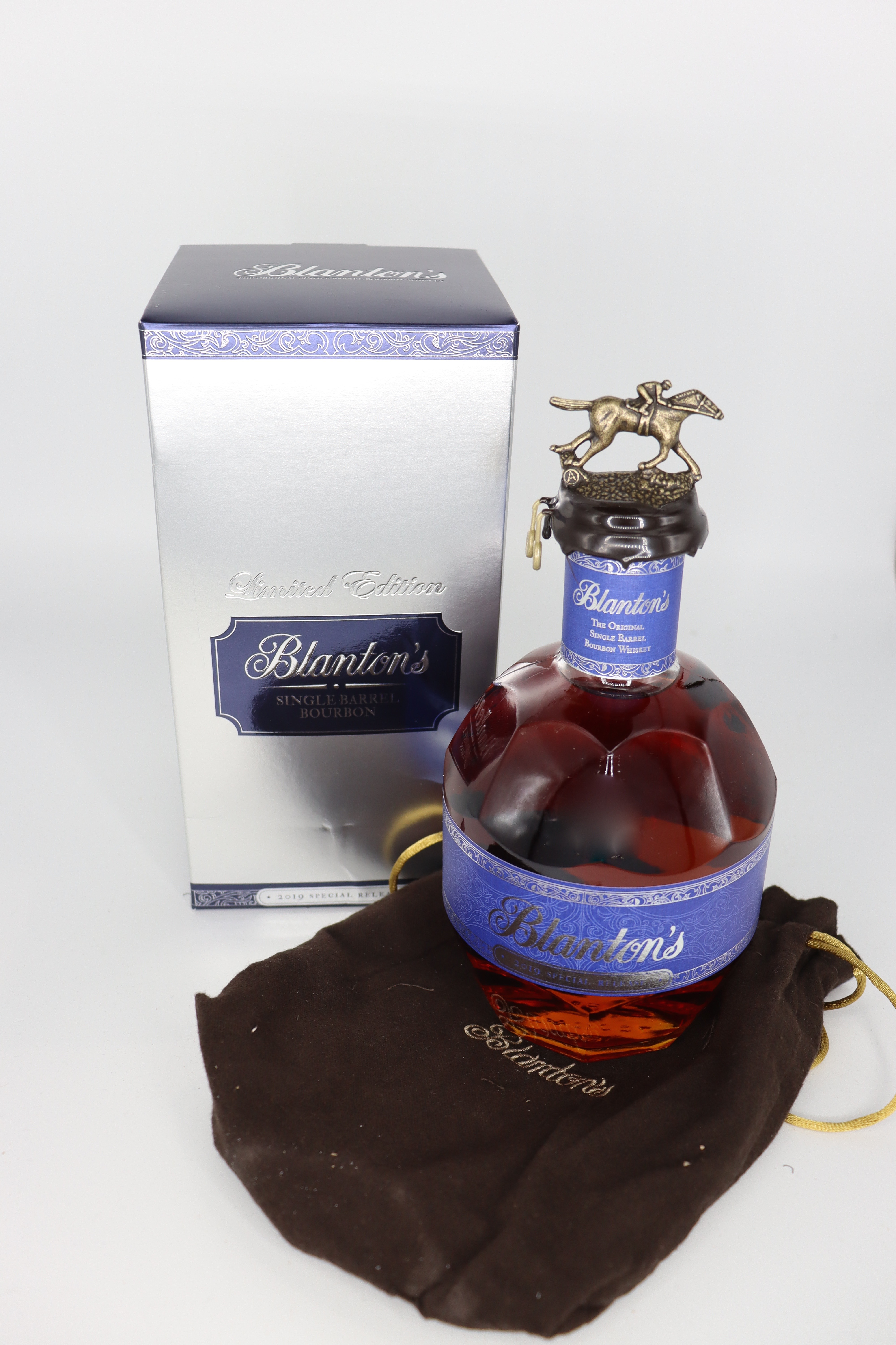 Blanton's Blue Label Poland Limited Edition Bourbon With Bag and Box Only 100 made like this 98 proof 2019